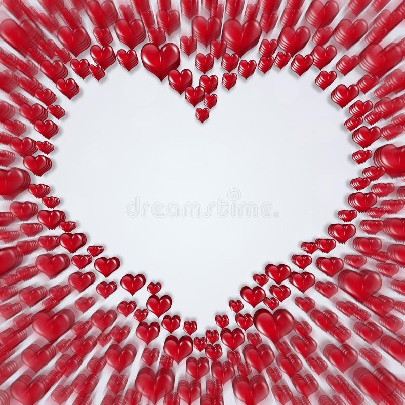 Corazones borrosos rojo stock de ilustración