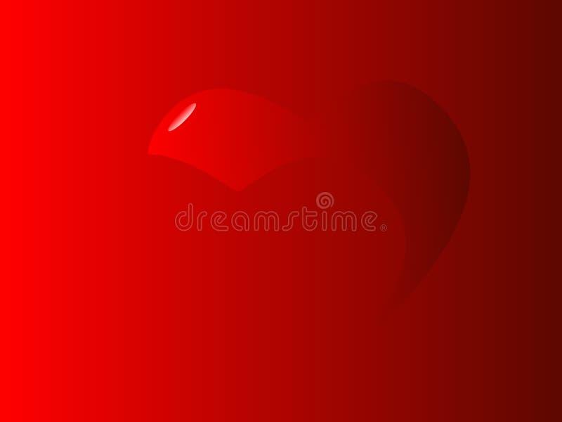 Corazones carmesís de la tarjeta del día de San Valentín fotografía de archivo libre de regalías