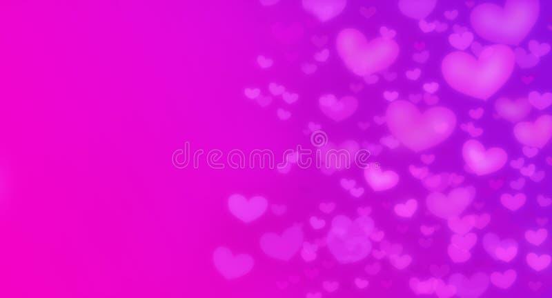 Corazones como fondo Concepto del día de tarjetas del día de San Valentín Tarjeta del día de tarjetas del día de San Valentín ilustración del vector