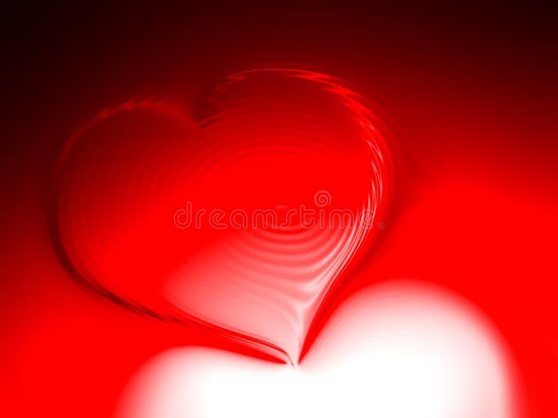 Corazones de día de San Valentín en fondo sombreado rojo y negro foto de archivo