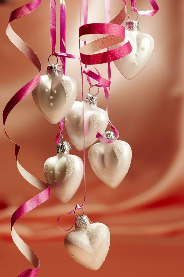 Corazones de la Navidad imagen de archivo libre de regalías