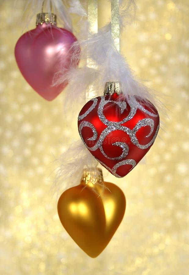 Corazones de la Navidad fotografía de archivo libre de regalías