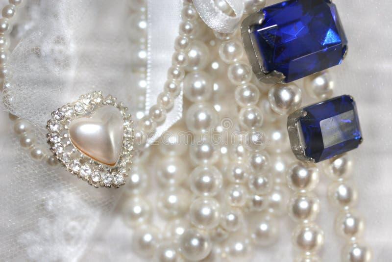 Corazones de la perla imagen de archivo