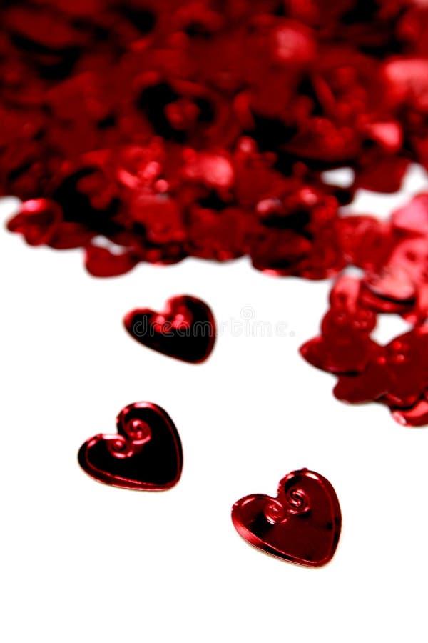 Corazones de la St-Tarjeta del día de San Valentín fotos de archivo