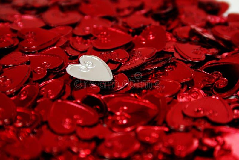 Corazones de la St-Tarjeta del día de San Valentín fotografía de archivo libre de regalías