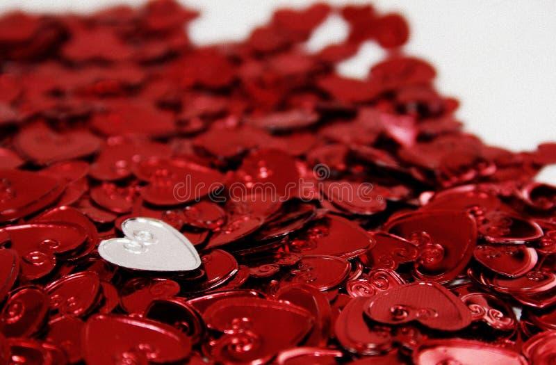 Corazones de la St-Tarjeta del día de San Valentín fotografía de archivo