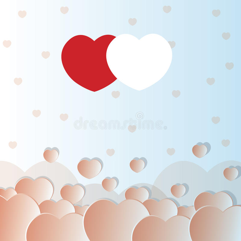 Corazones de la tarjeta del día de San Valentín libre illustration