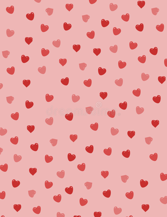 Corazones De La Tarjeta Del Día De San Valentín Foto de archivo libre de regalías