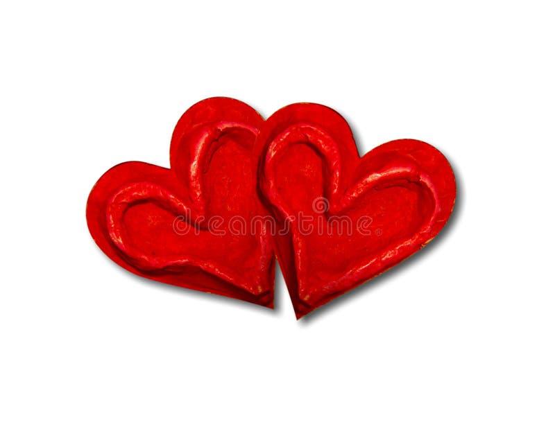 corazones de mache papel 图库摄影
