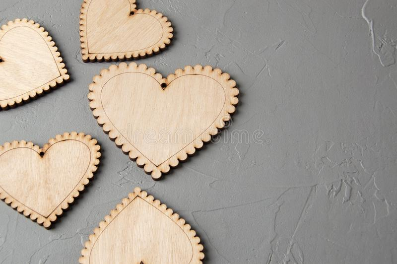 Download Corazones de madera foto de archivo. Imagen de textura - 100532942