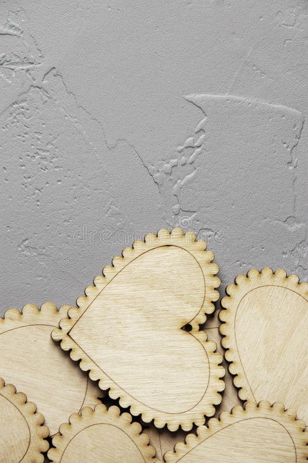 Download Corazones de madera imagen de archivo. Imagen de madera - 100533307