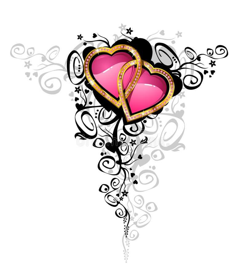 Corazones del amor/del vector/ ilustración del vector