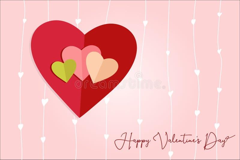 Corazones del amor postales ilustración del vector