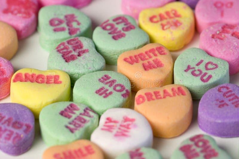 Corazones del caramelo imágenes de archivo libres de regalías