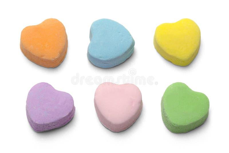 Corazones del caramelo fotografía de archivo