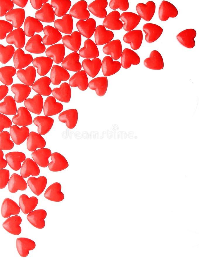 Corazones del caramelo Día de tarjeta del día de San Valentín fotos de archivo libres de regalías