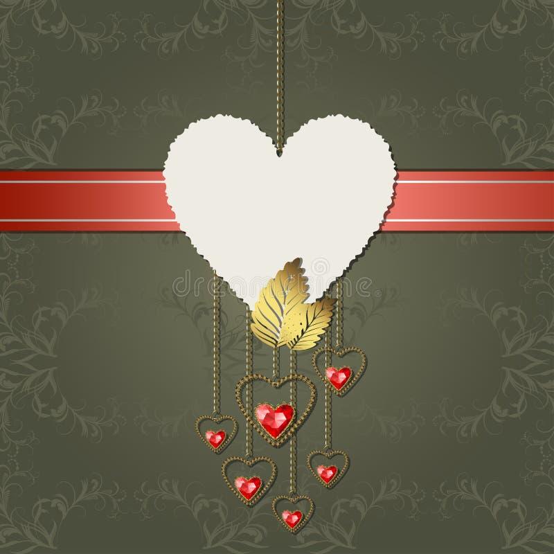 Corazones del corazón y del diamante del papel fotográfico libre illustration