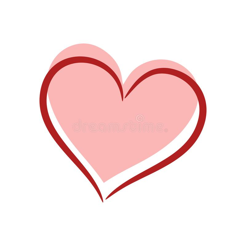 Corazones del extracto dos Concepto del amor Ilustración común del vector stock de ilustración