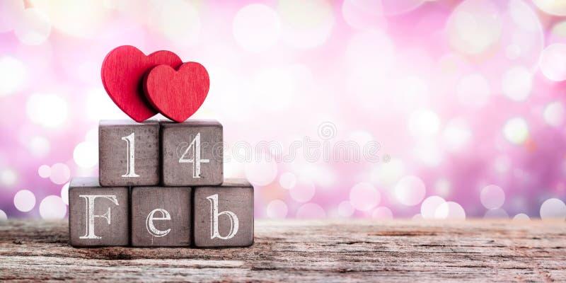 Corazones el día de tarjetas del día de San Valentín foto de archivo libre de regalías