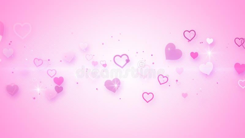 Corazones elegantes rosados stock de ilustración