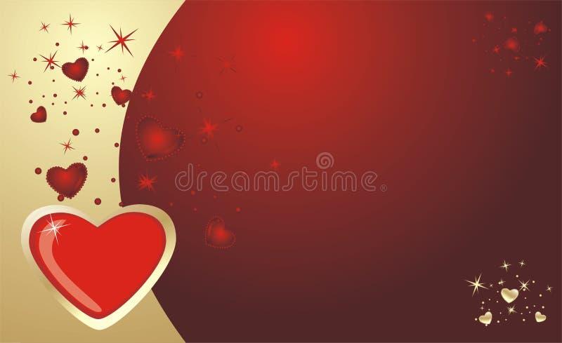 Corazones. Fondo para la tarjeta al día de tarjeta del día de San Valentín ilustración del vector