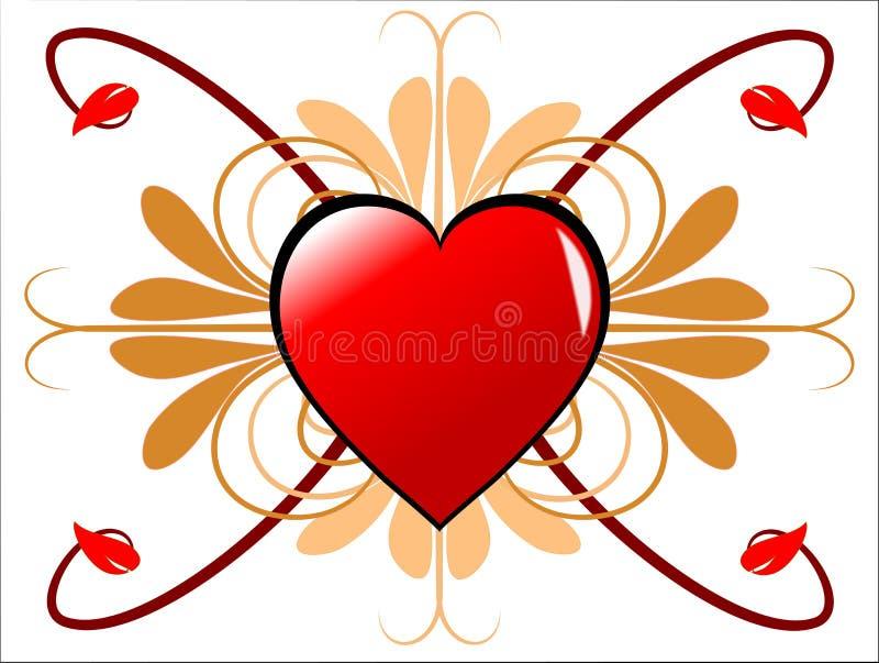 Corazones geométricos de las tarjetas del día de San Valentín  libre illustration
