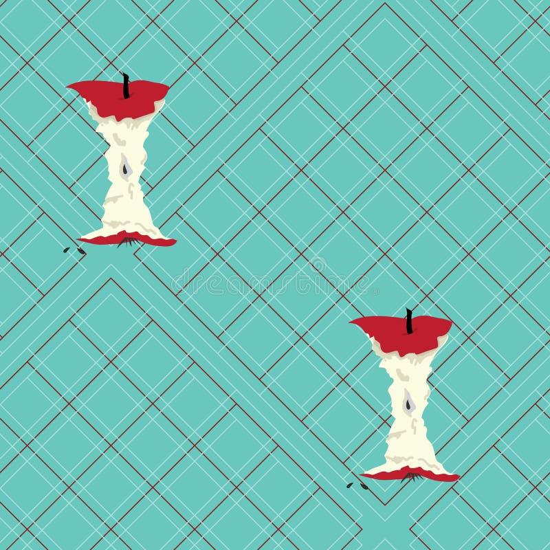 Corazones grandes de la manzana en la tela escocesa ligera del trullo imagen de archivo