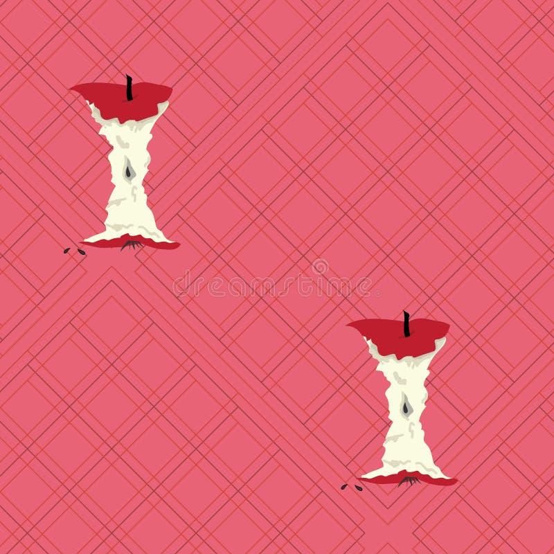 Corazones grandes de la manzana en la tela escocesa rosada imagenes de archivo