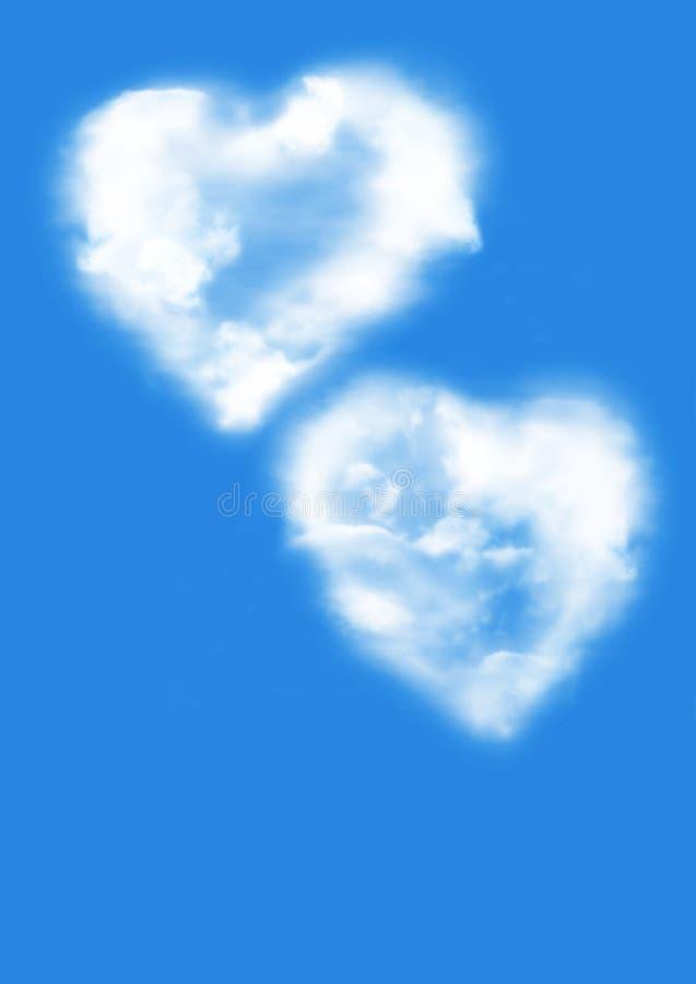 Corazones mullidos (concepto del amor) stock de ilustración