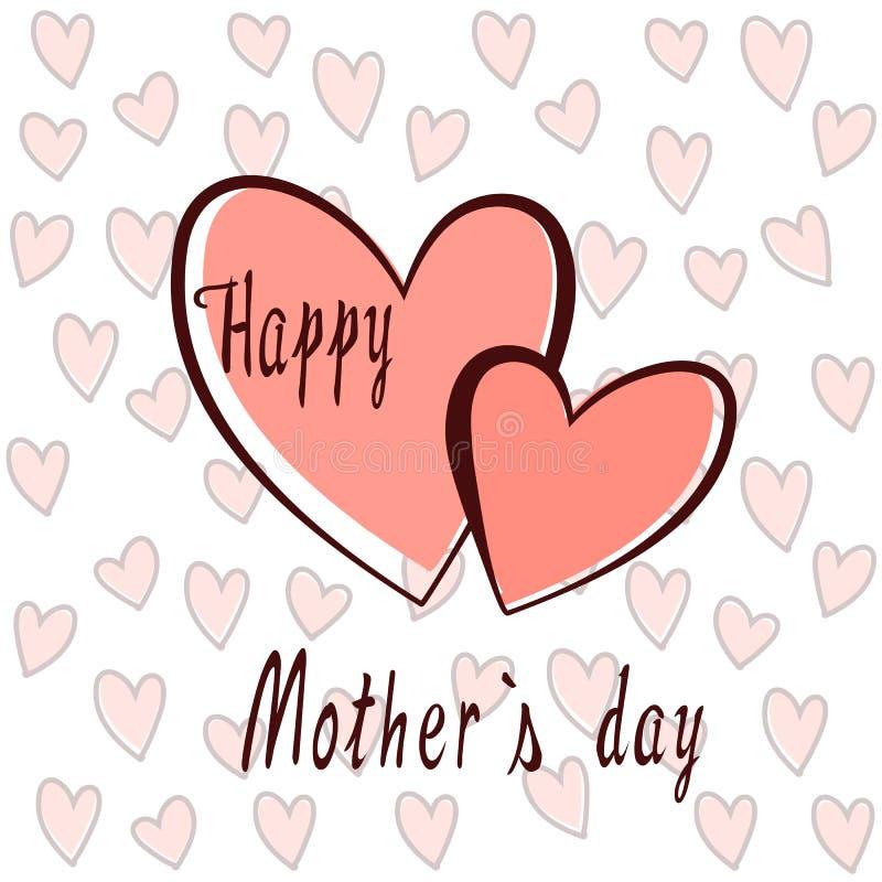 Corazones para el día del ` s de la madre libre illustration