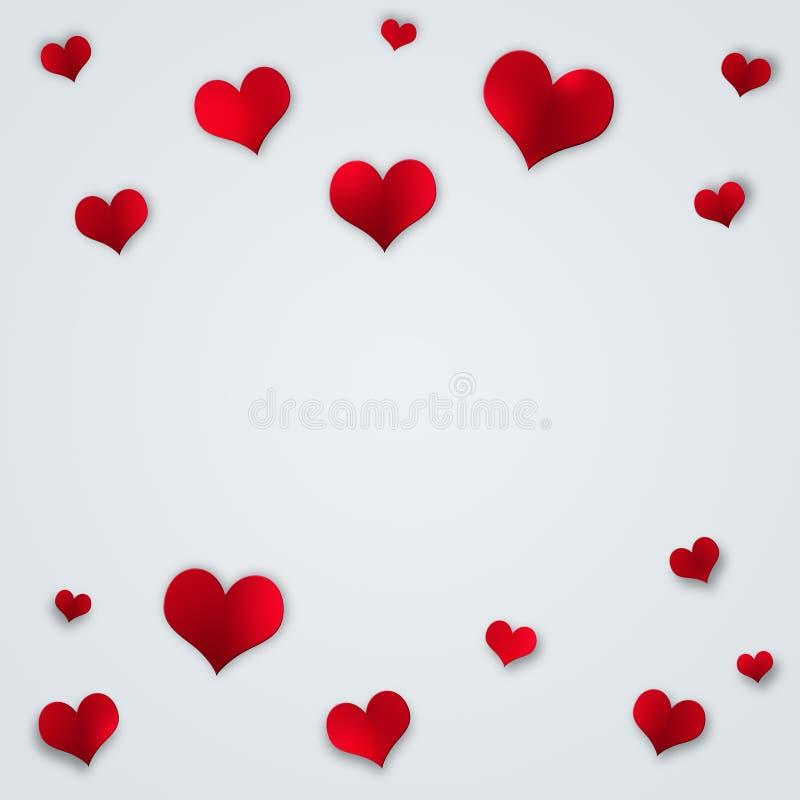 Corazones rojos de la tarjeta del día de San Valentín libre illustration