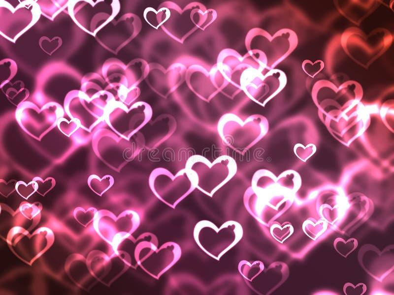 Corazones rosados ilustración del vector
