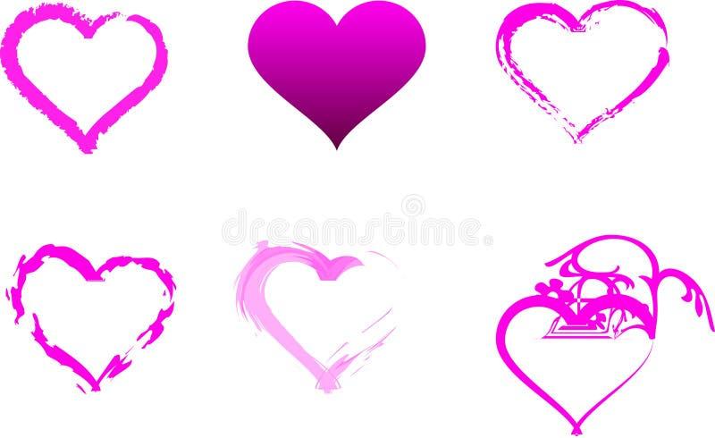 Corazones rosados individuales fotografía de archivo libre de regalías