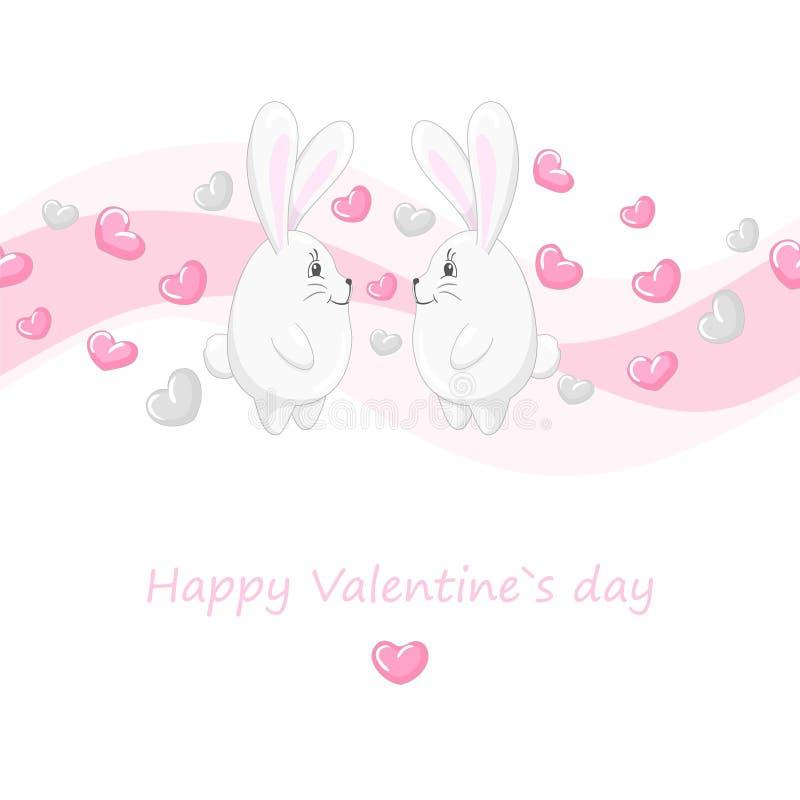 Corazones y conejos lindos 2 libre illustration