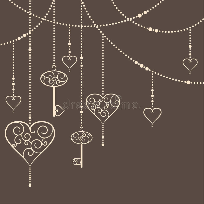 Corazones y llaves libre illustration