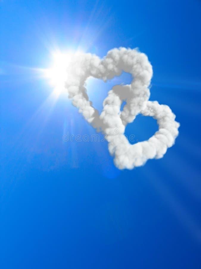 corazones y nubes imagen de archivo imagen de id lico 9883317. Black Bedroom Furniture Sets. Home Design Ideas