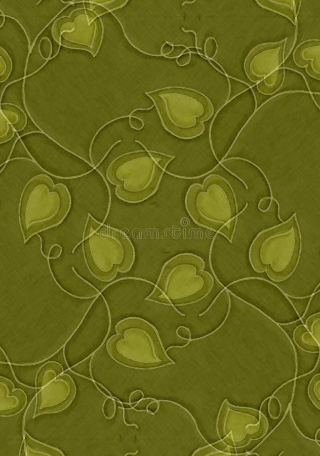 Corazones y textura verdes de las vides libre illustration