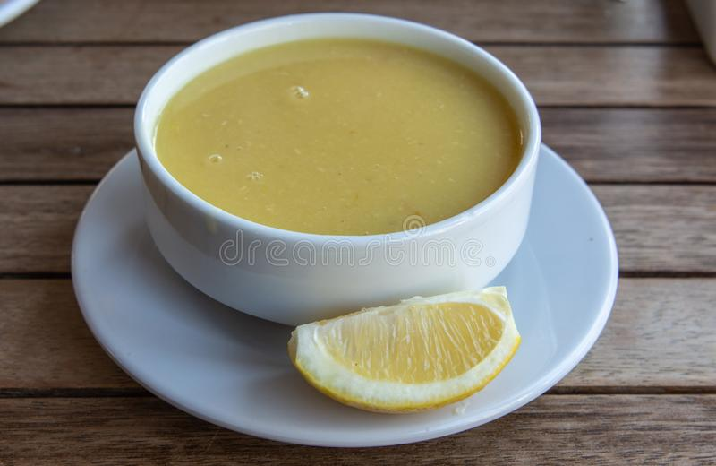 Corbasi turco del mercimek della minestra di lenticchia fotografia stock libera da diritti