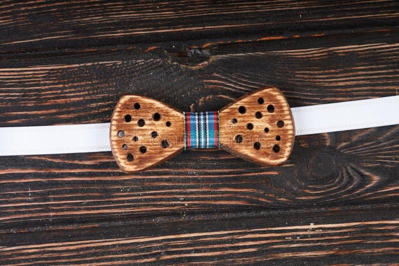 Corbata de lazo de madera foto de archivo