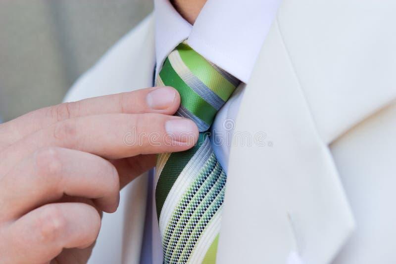 Corbata verde imagen de archivo