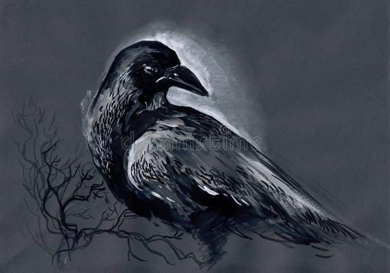 corbeau illustration stock