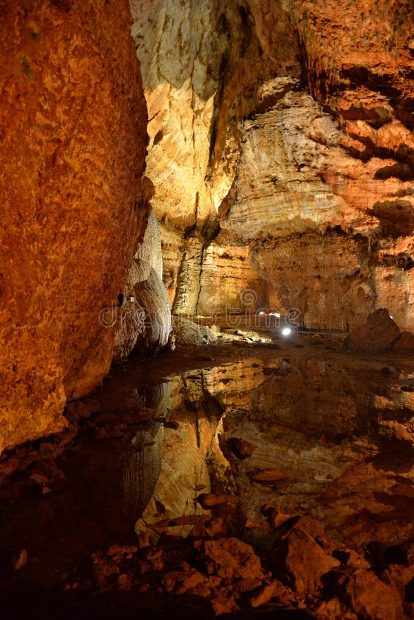Corbeddu cave in Sardinia royalty free stock photo