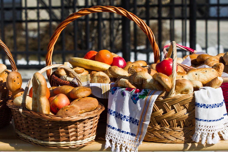 Corbeille à pain photo stock