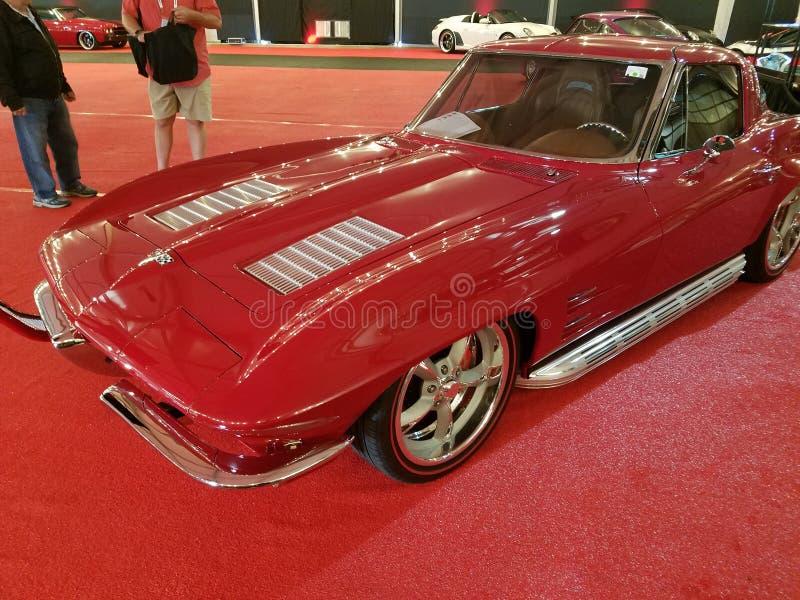 1963 Corbeta, Barrett Jackson Auction Salon Car fotografía de archivo
