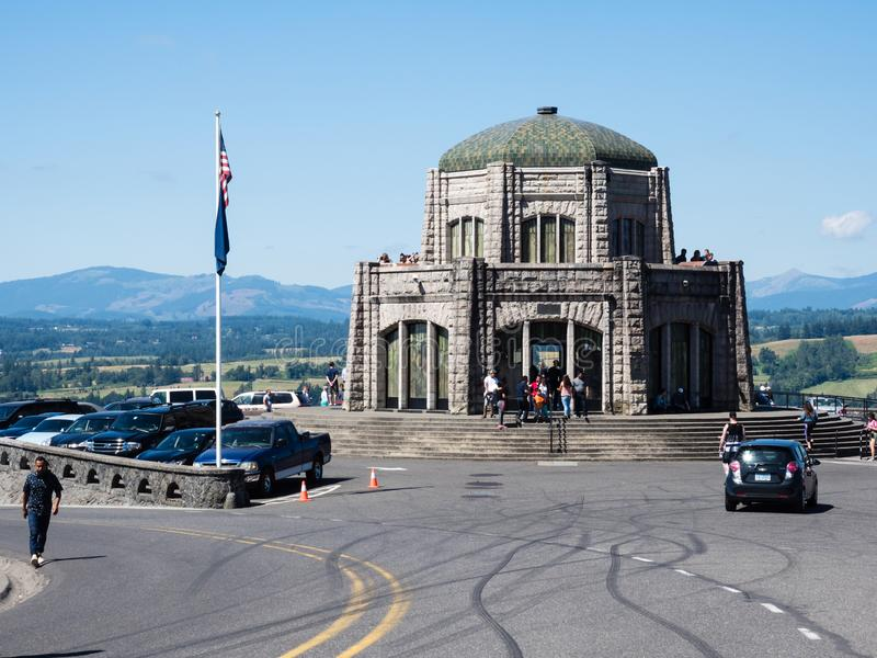 Crown Point Vista House, a museum and observation point in Columbia River Gorge national scenic royalty free stock image