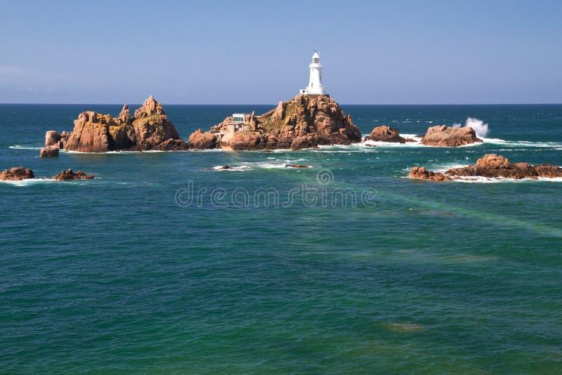 corbiere泽西le lighthouse英国 库存图片