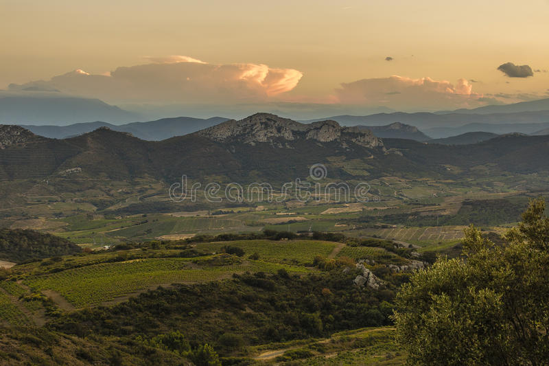 Corbieres Mountains, France stock image