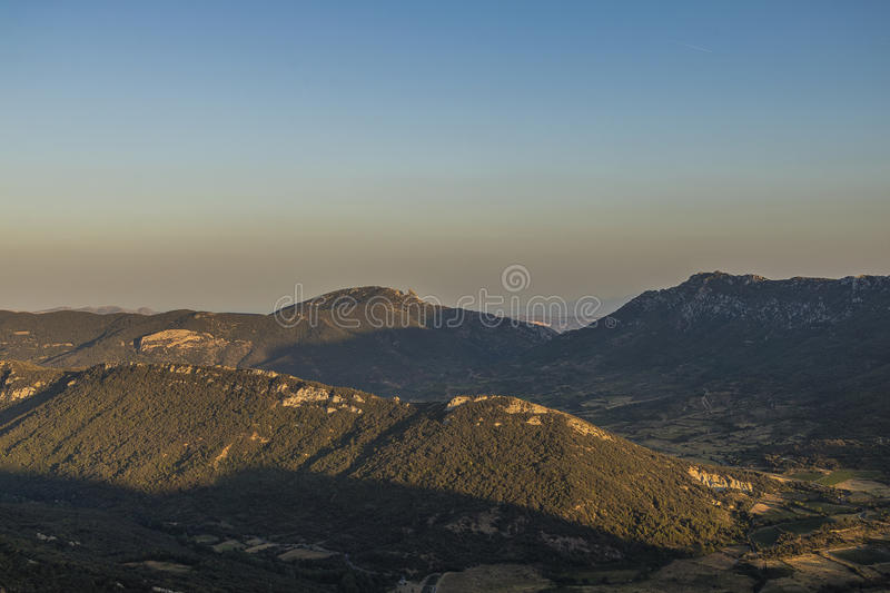 Corbieres Mountains, France royalty free stock image