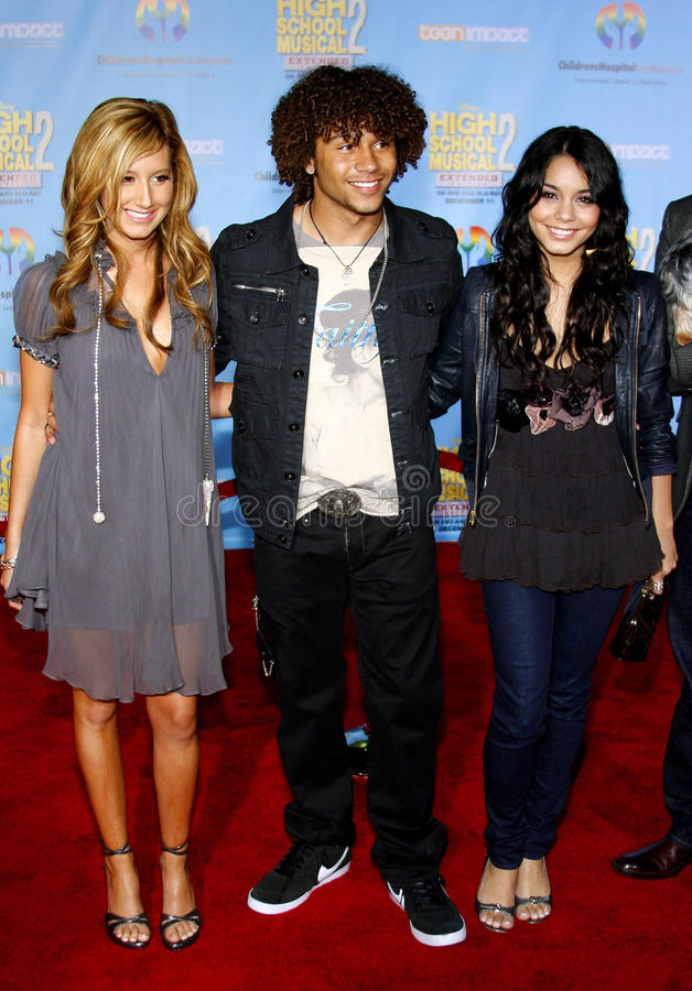 Corbin Bleu, Vanessa Hudgens e Ashley Tisdale fotografia stock