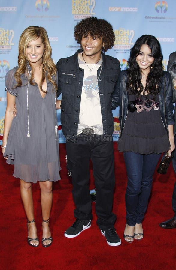 Corbin Bleu, Vanessa Hudgens e Ashley Tisdale fotografia stock libera da diritti
